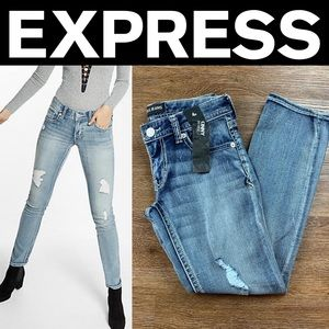 NEW EXPRESS LOW RISE THICK STITCH SKINNY JEANS